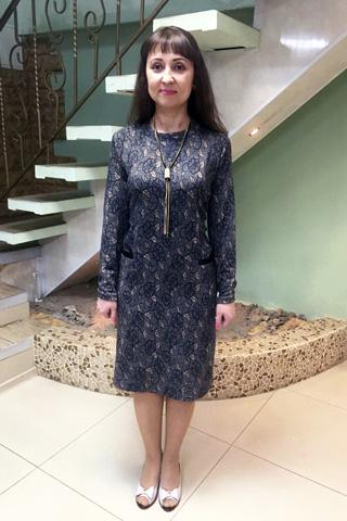 Платье из плотной трикотажной ткани с длинным рукавом
