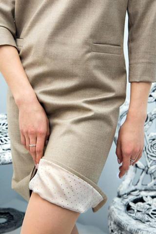 Платье из шерсти на подкладке