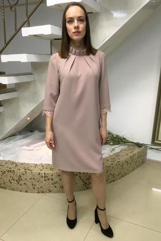 Платье А-силуэта из плотного крепа