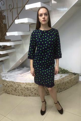 Платье из плотного эластичного крепа