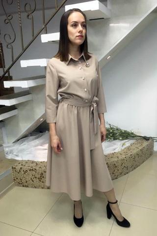 Платье для безупречного образа, из качественной легкой костюмной ткани