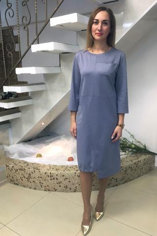 Платье прямого силуэта в стиле «Бохо»