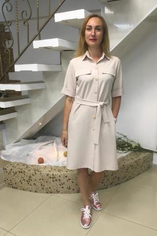 Платье-рубашка. Силуэт - трапеция