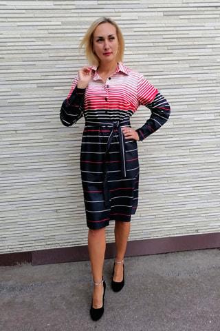 Платье-рубашка из облегчённой джинсовой ткани