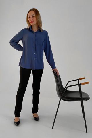 Рубашка свободного кроя из лёгкой вискозной ткани, вид общий