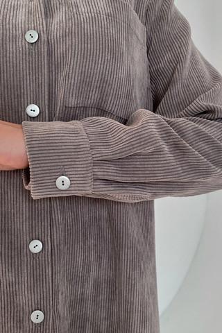 Рубашка вельветовая удлинённая, рукав