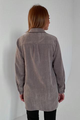 Рубашка вельветовая удлинённая, вид сзади