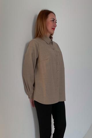 Рубашка из легкой костюмной ткани